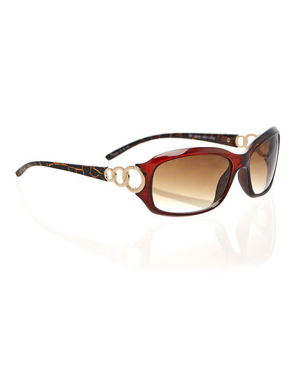 Brown Marble Print Sunglasses, Brown, hi-res