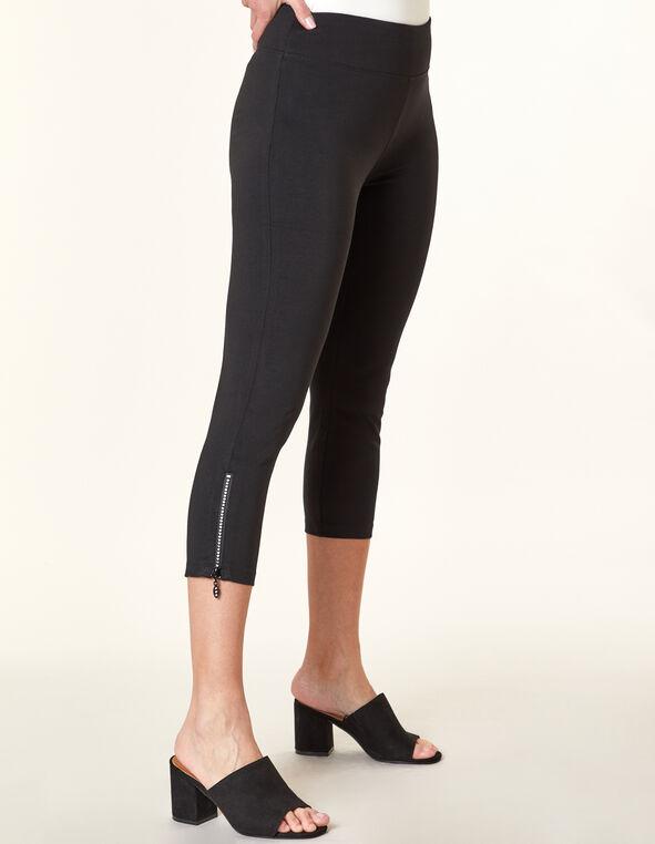 Black Bling Capri Legging, Black, hi-res