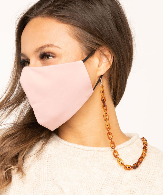 Tortoise Shell Link Mask Chain, Brown/Gold, hi-res