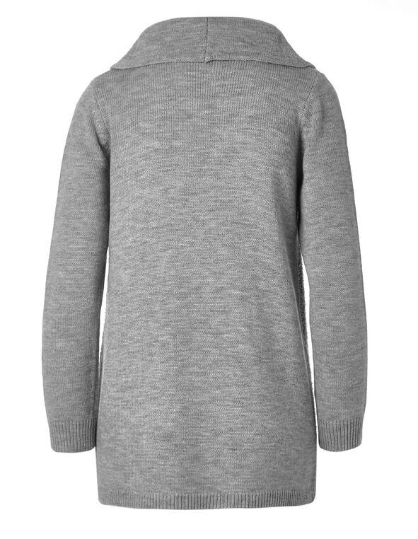 Grey Boucle Cardigan, Grey, hi-res