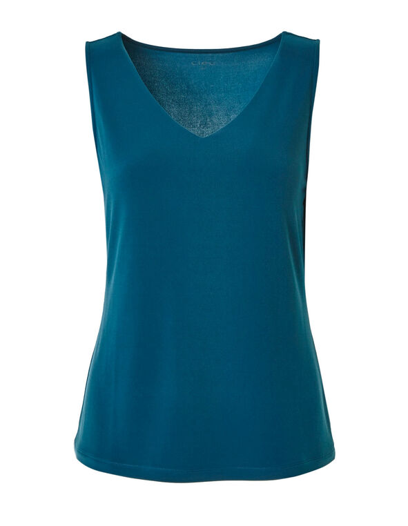 Turquoise Essential Layering Tank, Turquoise, hi-res
