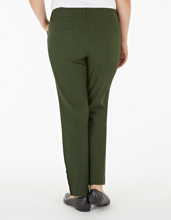 Loden Slim Leg Ankle Pant, Dark Green, hi-res