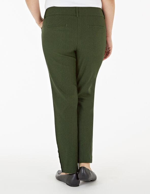 Loden Slim Leg Ankle Pant, Dark Green, hi-res