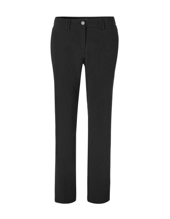 Black Curvy Straight Leg Pant, Black, hi-res