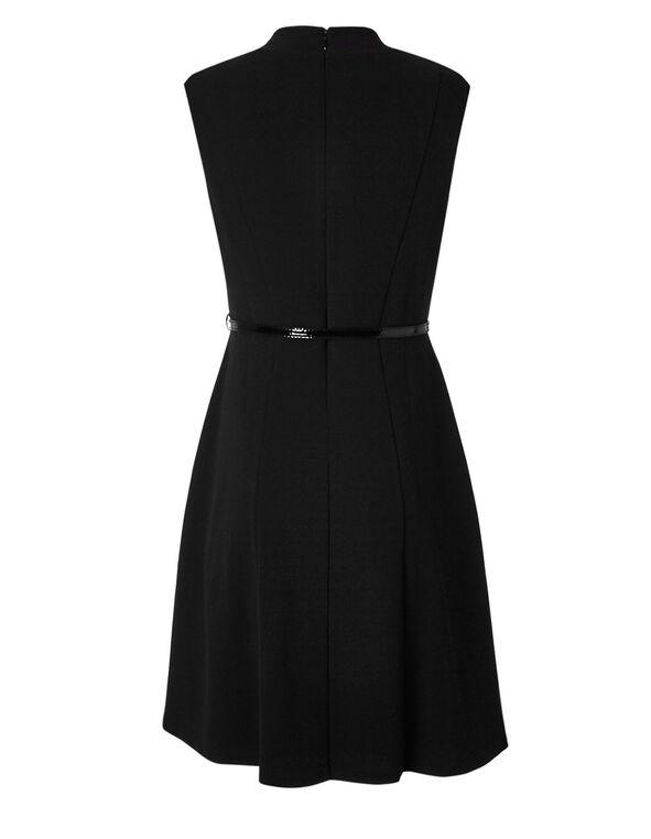 Little Black Fit & Flare Dress, Black, hi-res