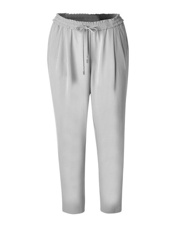 Light Grey Soft Jogger Ankle Pant, Grey, hi-res
