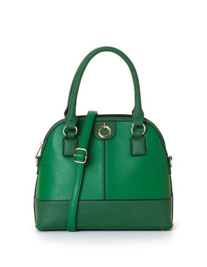 Emerald Snake Trim Dome Handbag, Green/Emerald, hi-res