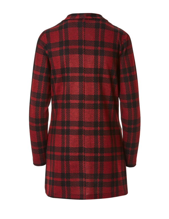 Red Plaid Hacchi Drape Topper, Red, hi-res