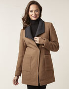 Camel Wool Blend Coat, Camel, hi-res