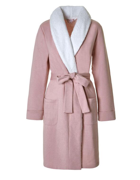 Ballet Pink French Terry Fleece Robe, Ballet, hi-res