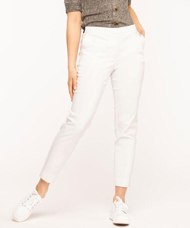 Slim Leg Ankle Pant, White
