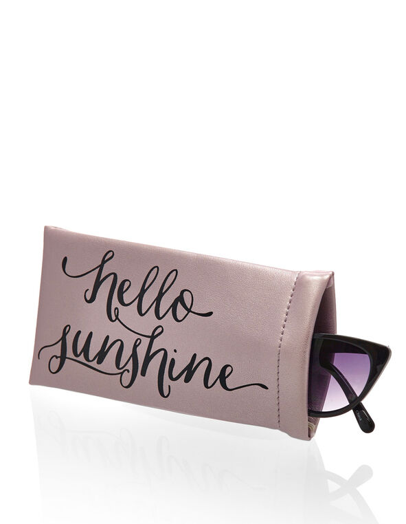 Metallic Lilac Sunglasses Case, Lilac, hi-res