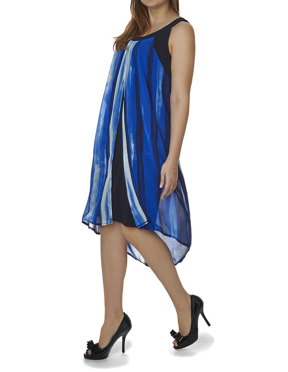 Cobalt Split Front Dress, Cobalt, hi-res