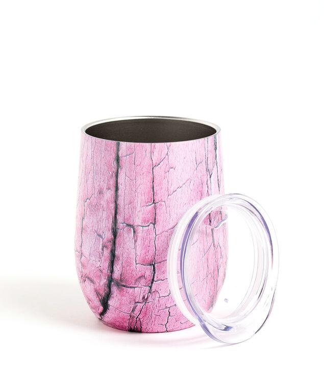 Insulated Wine Tumbler, Purple Crackle