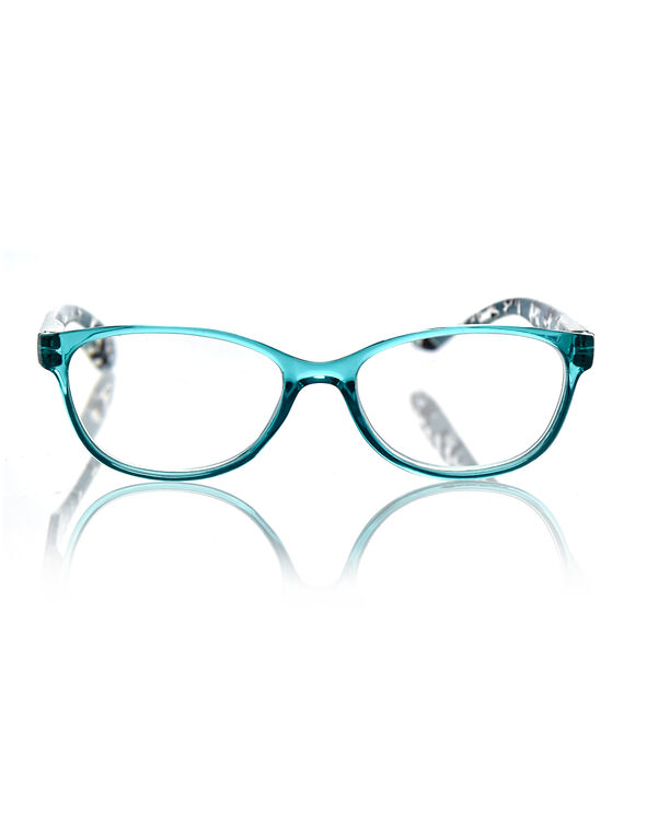 Turquoise Animal Print Reader, Turquoise, hi-res