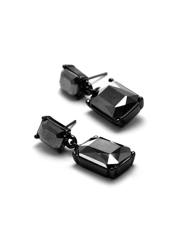 Hematite Faceted Drop Earring, Hematite, hi-res