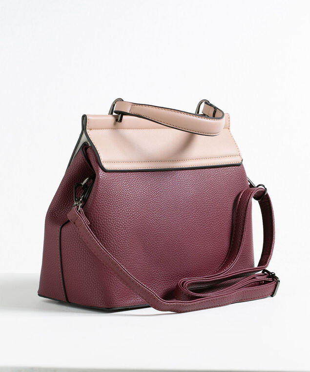 Mulberry Colourblock Handbag, Mulberry/Pink/White, hi-res