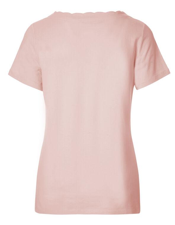 Seashell Pink Scalloped Tee, Seashell Pink, hi-res