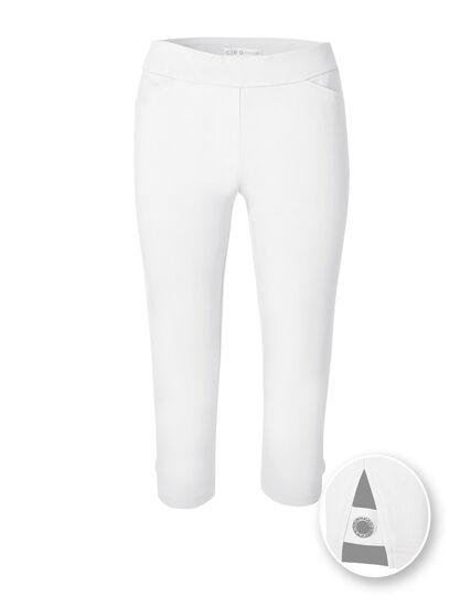 White Capri Pull On Pant, White, hi-res