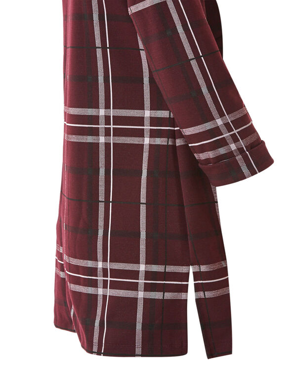 Merlot Plaid Tunic Top, Merlot, hi-res