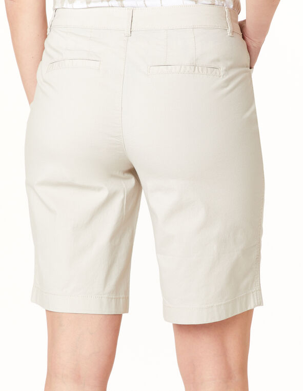 Stone Poplin Short, Tan, hi-res