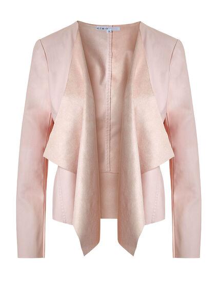 Pink Open Front Jacket, Misty Rose, hi-res