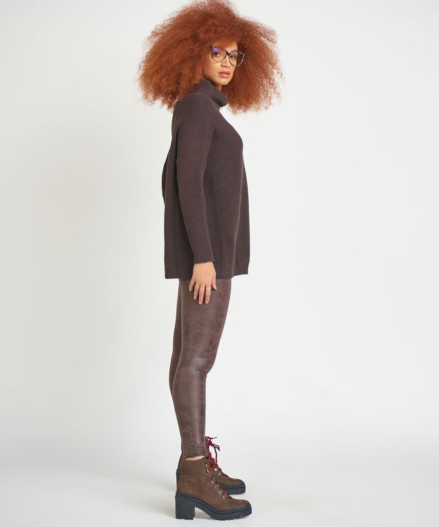 Dex Slouchy Tunic Sweater, Brown