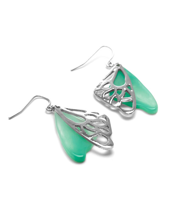 Turquoise Butterfly Earring, Turquoise, hi-res