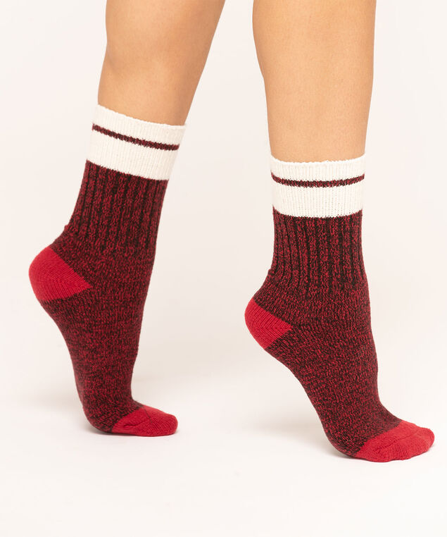 Scottie Dog Plush Sock 2-Pack, Red/Black/Grey, hi-res