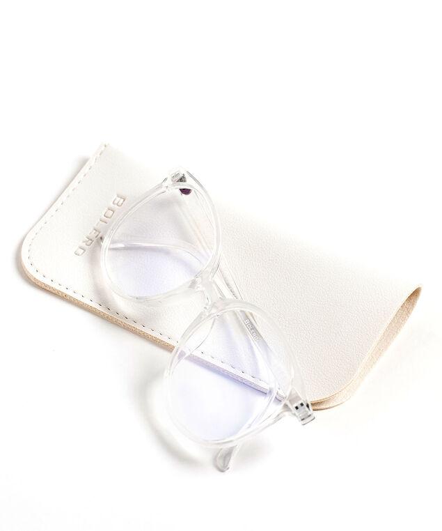 Round Blue Light Reader Glasses, Clear