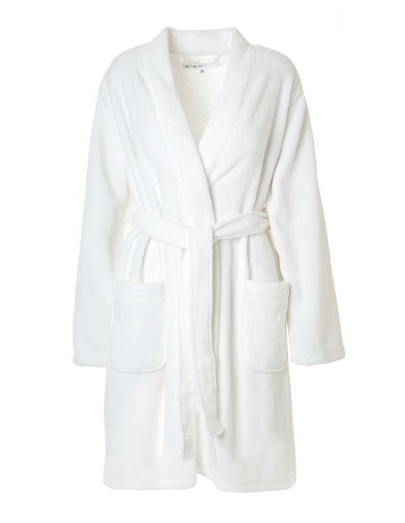 Ivory Plush Robe, Ivory, hi-res