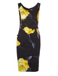 Black Floral Dress With Pockets