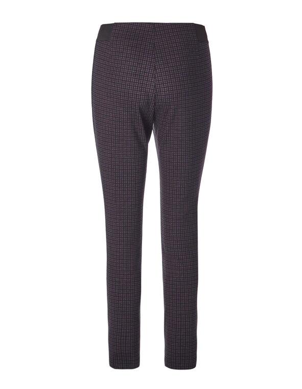 Plum Patterned Legging, Black/Plum, hi-res