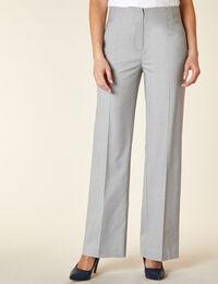 Light Grey Textured Trouser Pant