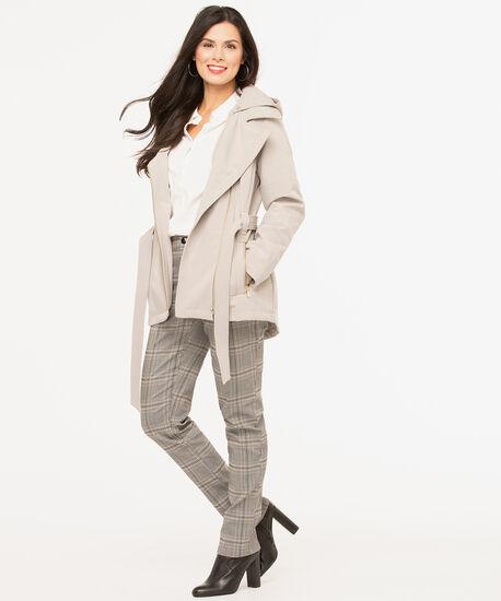 Tan Asymmetrical Soft Shell Jacket, Tan, hi-res