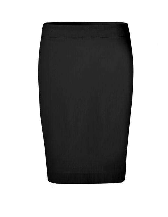 Black Signature Pencil Skirt, Black, hi-res