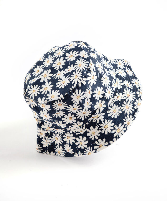 Reversible Bucket Hat, Daisy Print