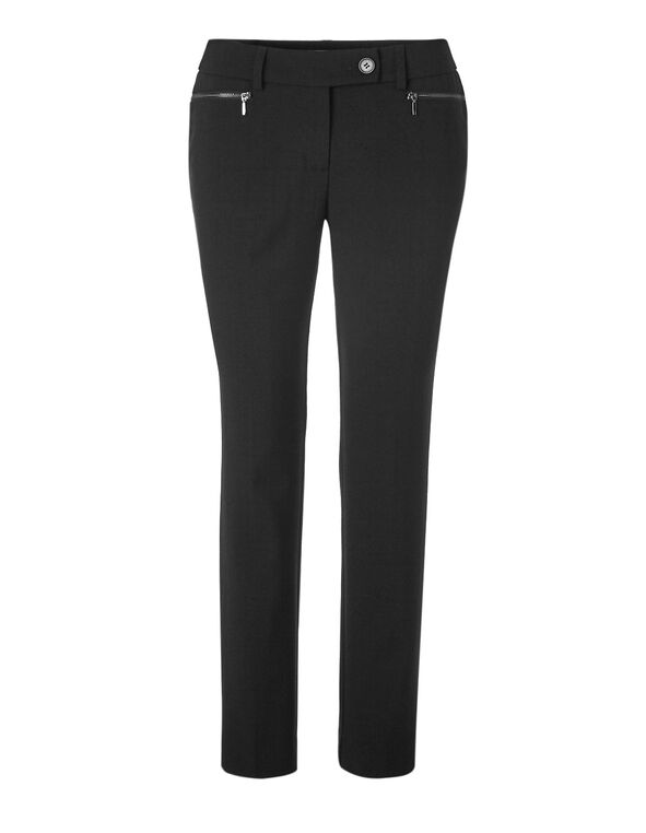 Black Favourite Slim Leg Pant, Black, hi-res