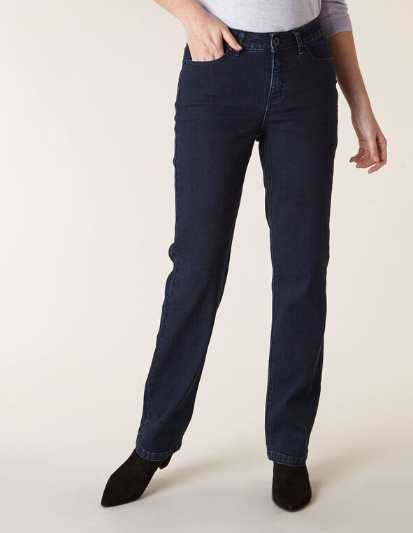Dark Wash Sequin Straight Leg Jean, Dark Wash, hi-res