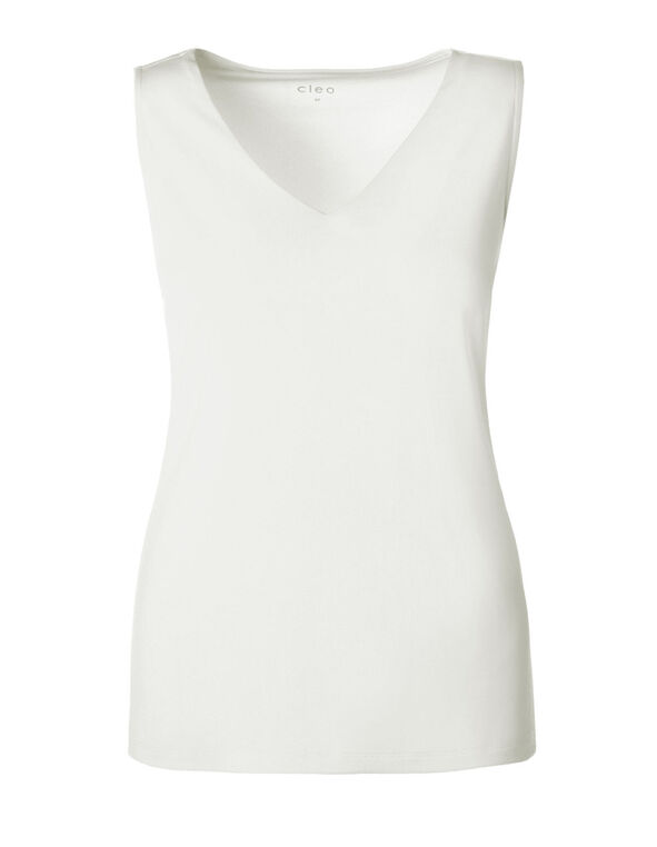 Ivory Essential Layering Tank, Ivory, hi-res