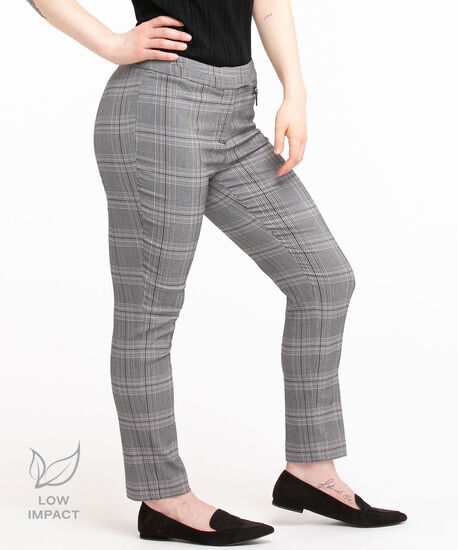 Low Impact Microtwill Ankle Pant - Curvy, Purple Plaid, hi-res