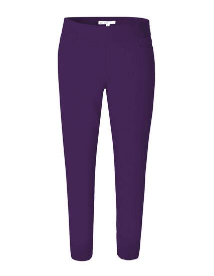 Dark Purple Ankle Pull On Pant, Dark Purple, hi-res
