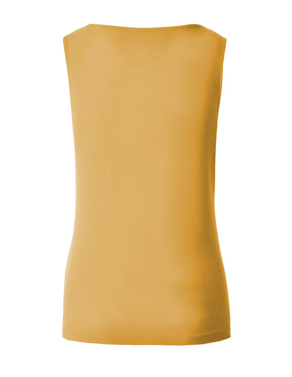Mustard Essential Layering Top, Mustard, hi-res