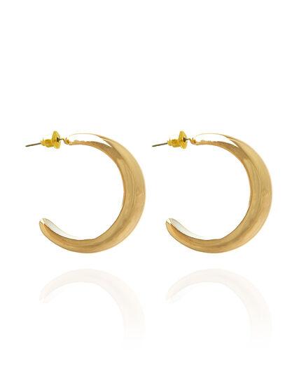 Golden Half Hoop Earrings, Gold, hi-res