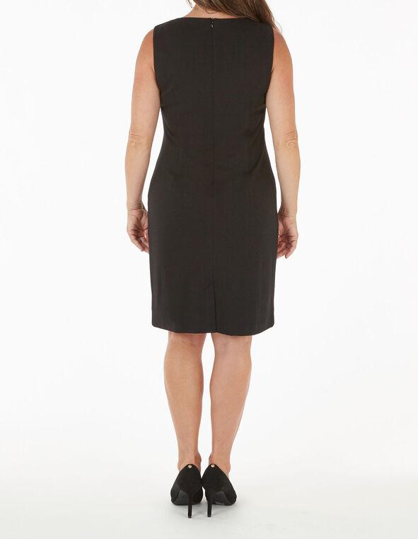 Merlot Striped Sheath Dress, Merlot, hi-res
