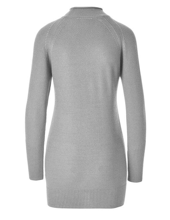 Light Grey Tunic Sweater, Light Grey, hi-res