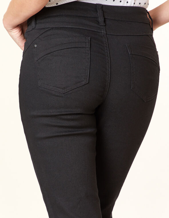 Black Butt Lift Slim Jean, Black, hi-res