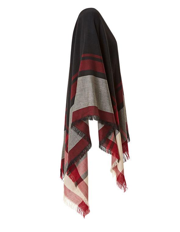 Red Print Wrap, Black, hi-res