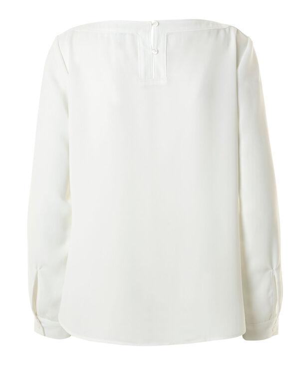 Ivory Long Sleeve Blouse, Ivory, hi-res