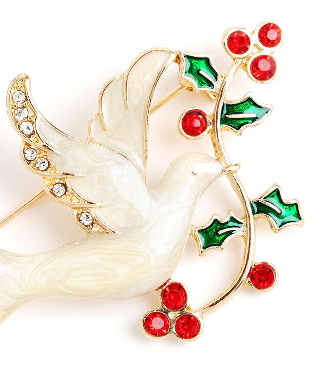 Holiday Dove Pin, Gold
